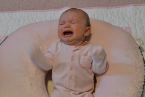 Avery Crying with Arms Flailing. A common sight.....