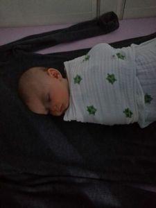 Avery Sleeping in Crib