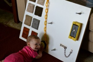 Building an activity board and she likes it!!