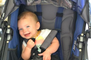 Excited about going for a run in the stroller!!